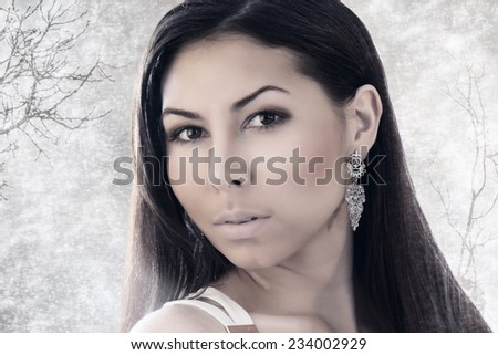 Fine art portrait of a beautiful lady