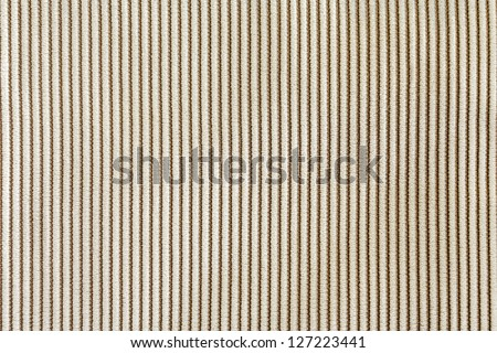 Fine beige corduroy fabric - stock photo