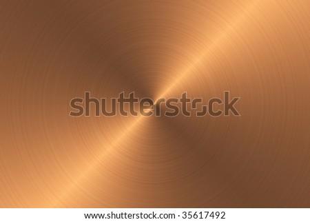 fine brushed bronze metal texture - stock photo