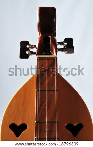 fine crafted Mountain Dulcimer of american culture - stock photo