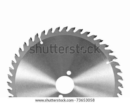 Fine cut circular saw blade - stock photo