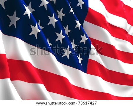 fine 3d image of america flag background