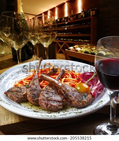 Fine dining - stock photo