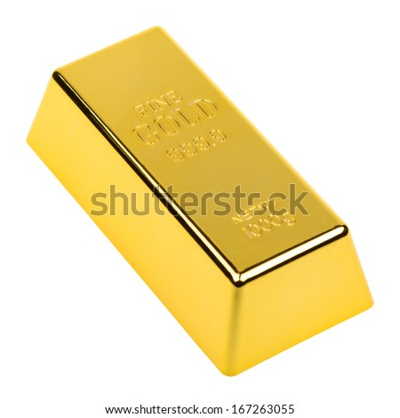 Fine Gold 1 Kilo isolated on white