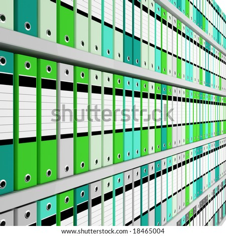 fine image 3d of archive folder - stock photo
