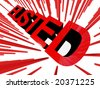 fine image 3d of busted banner - stock photo