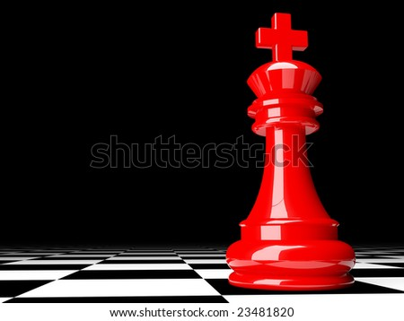 fine image 3d of red chess background - stock photo