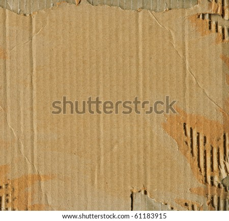 fine image of brown corrugate cardboard background - stock photo