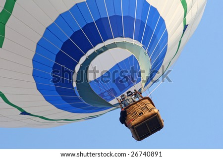 fine image of hot air balloon background - stock photo