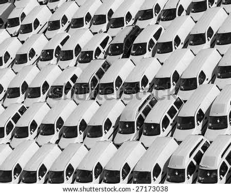 fine image of lot of car parking pattern background - stock photo