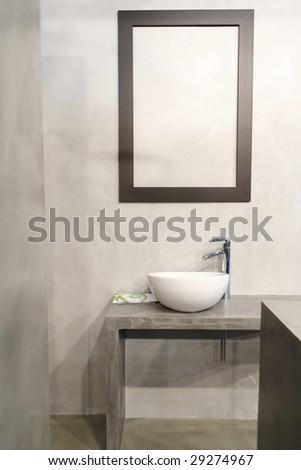 fine image of modern bath - stock photo