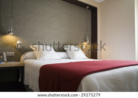 fine image of modern bed room