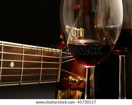 Fine music of wine - stock photo