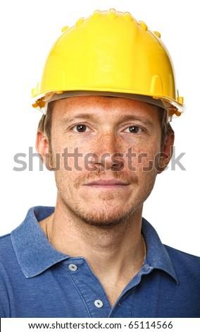 fine portrait of labor isolated on white background - stock photo