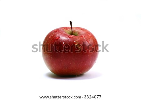 fine red apple isolated on white background