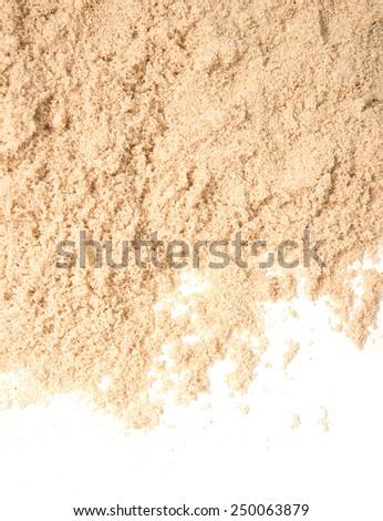 fine sand isolated on white background - stock photo