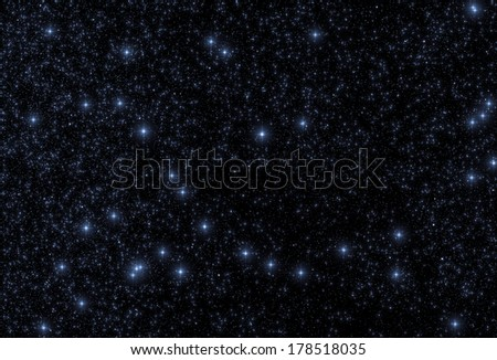 Fine shaped stars in the Milky Way on a black clipping sky. Suitable for various backgrounds. - stock photo