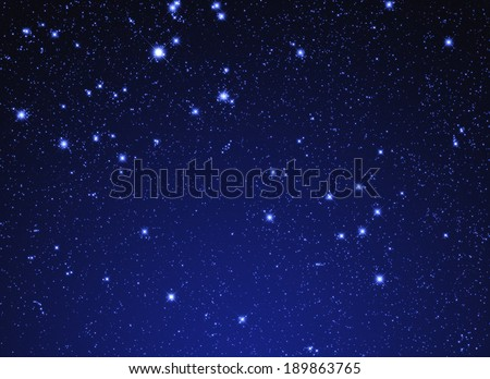 Fine shaped stars on a midnight background. - stock photo