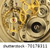 Fine Swiss precision clockwork. - stock photo