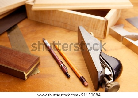 Fine wood working - stock photo
