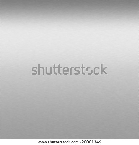 finely brushed metal background with highlight - stock photo