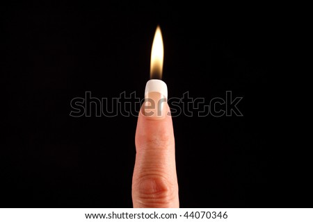 Finger Candle - stock photo