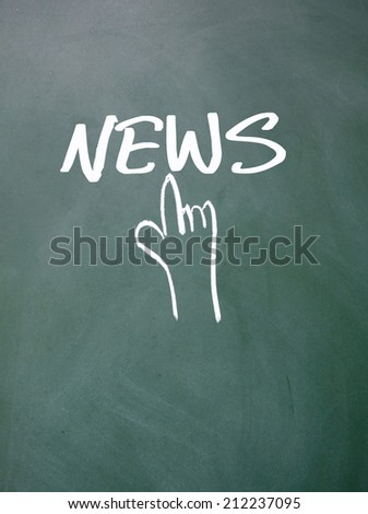 finger click news sign  - stock photo