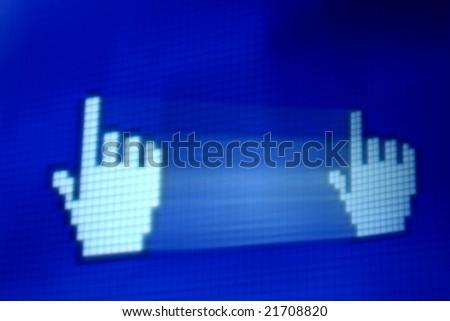 finger corsor - stock photo