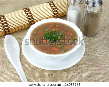 Finger millet soup.