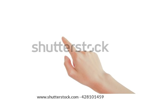 finger of hand point isolated - stock photo
