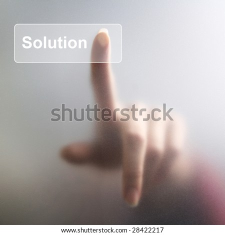 finger on solution button