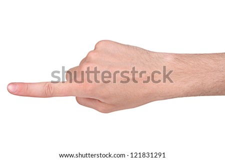 Finger pointing - stock photo