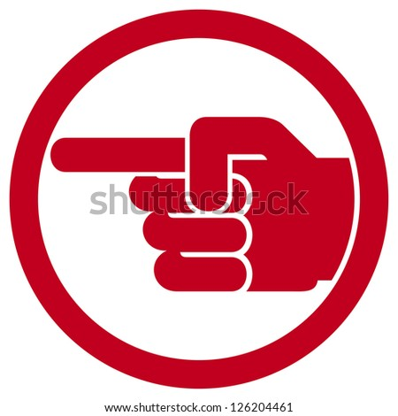 finger pointing symbol  - stock photo