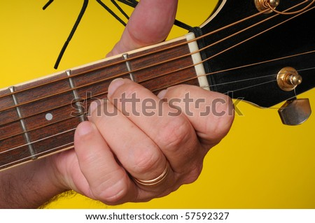 Finger Position A Minor Guitar Chord Stock Photo Royalty Free