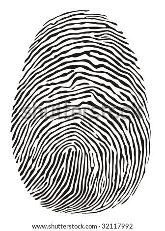 finger print - stock photo