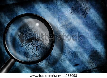 Finger print investigate - stock photo