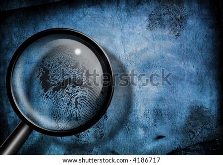 Finger print investigation - stock photo