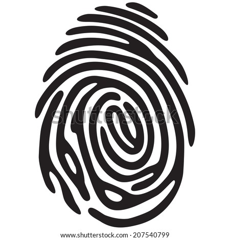 finger print light black color - stock photo