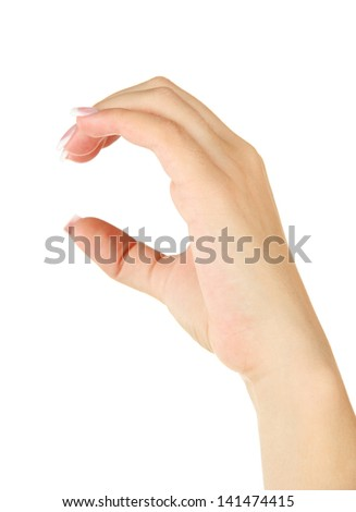 Finger Spelling the Alphabet in American Sign Language (ASL). Letter C - stock photo