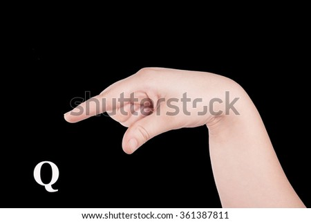 Finger Spelling the Alphabet in American Sign Language (ASL). The Letter O - stock photo