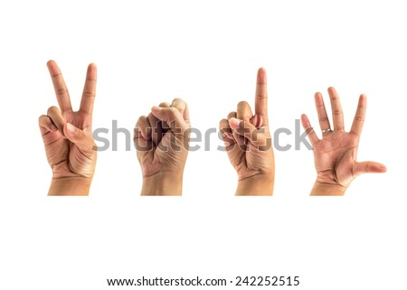 finger symbol year 2015 isolated white background