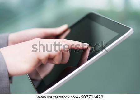 finger touch tablet