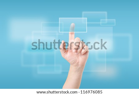 Finger Touching Transparent Digital Touch Screen