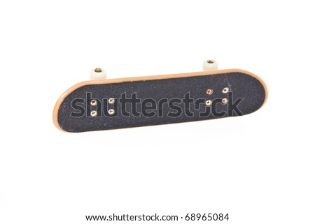 Fingerboard isolated on white background - stock photo