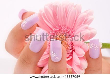 fingernail - stock photo