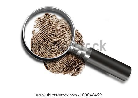 Fingerprint. - stock photo