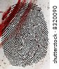 Fingerprint at crime scene. - stock photo