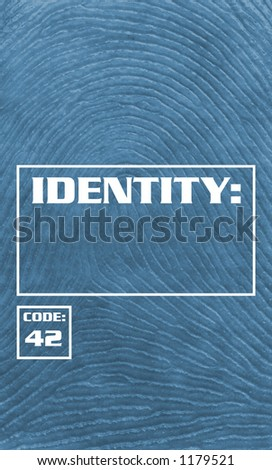 Fingerprint Background - Identity Theft - stock photo