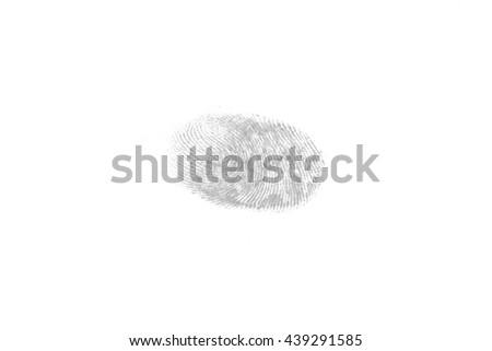 fingerprint on isolated white background. - stock photo