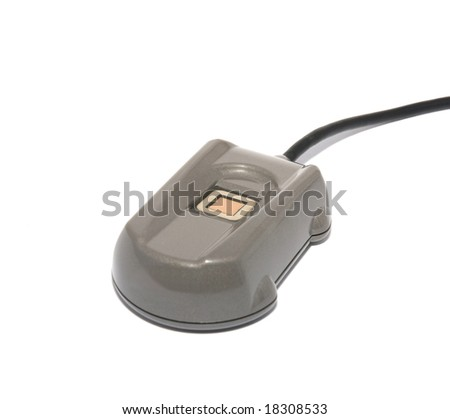 Fingerprint scanner - stock photo